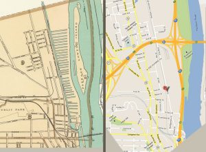 Lumber district 1895 and 2012