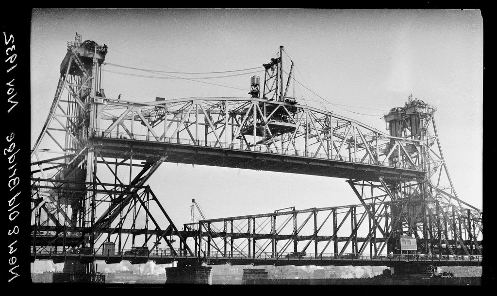 The old Greenbush bridge in the foreground was replaced by the Dunn Memorial Bridge in 1933. But a new bridge was not a foregone conclusion.