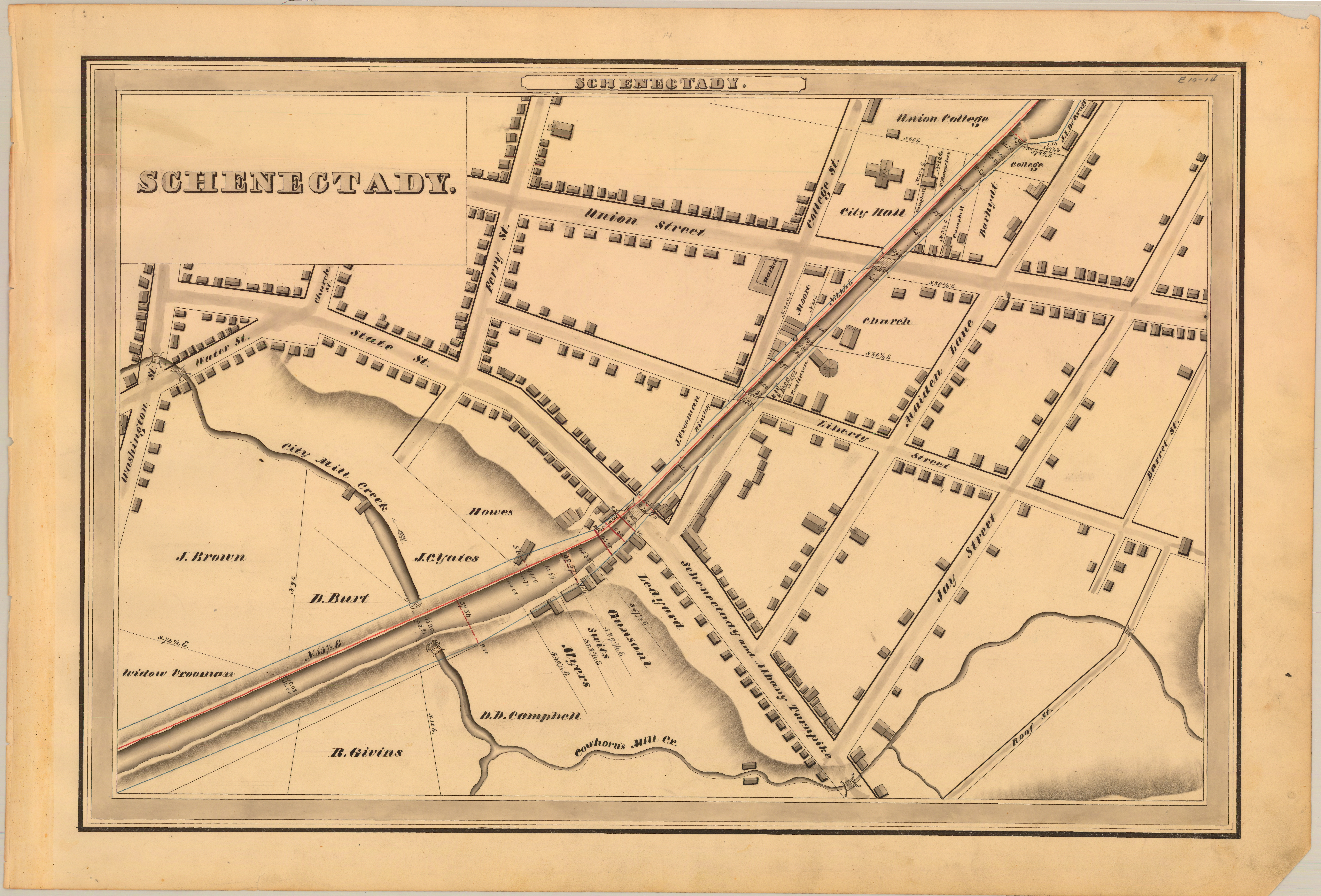 Page Hoxsie - Erie canal on map of us
