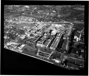 1946 Aerial View of the Bayer complex in Rensselaer, NY
