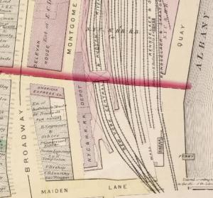 NY Central Rail Depot Albany 1876