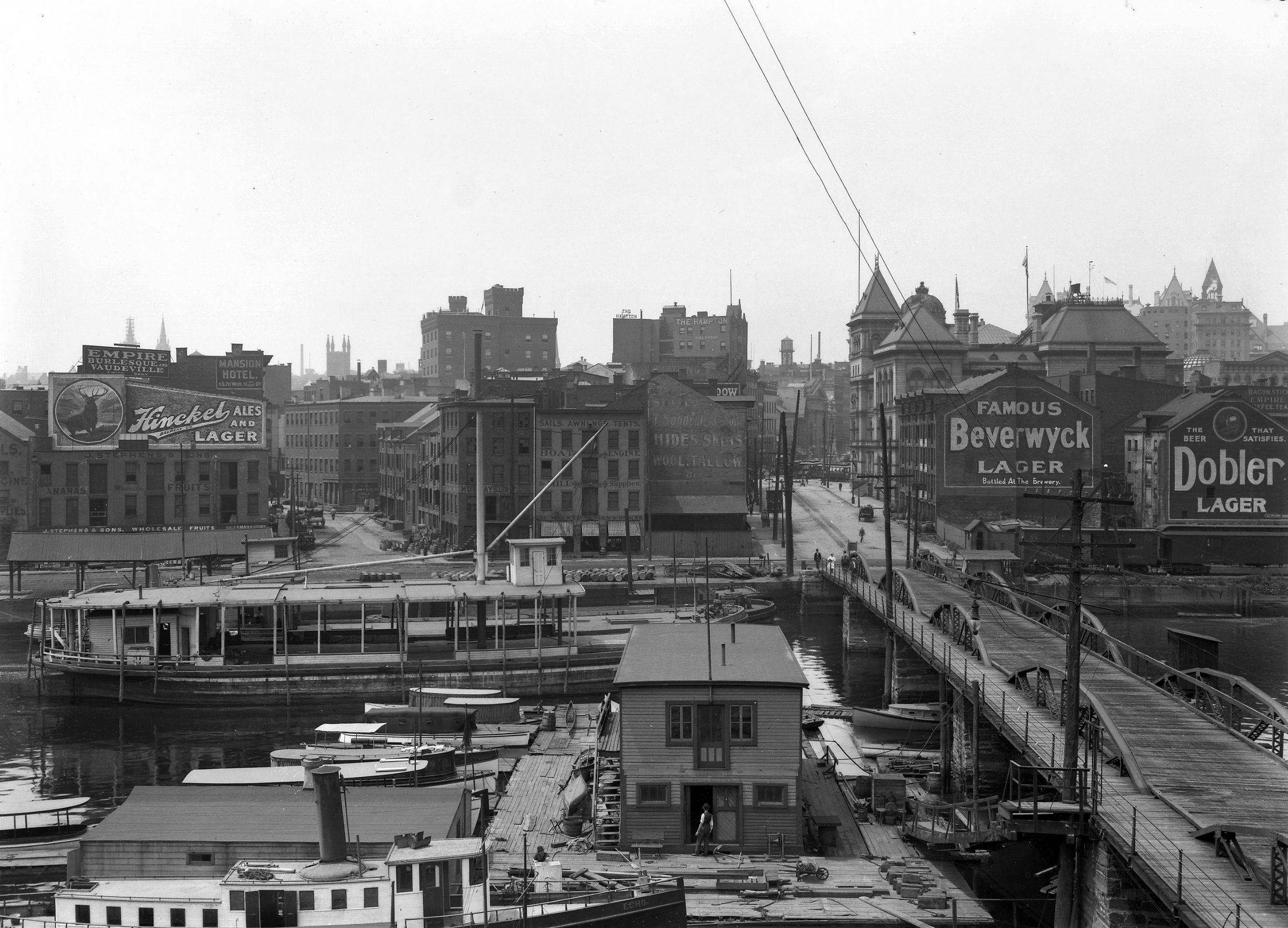 Albany Riverfront at foot of State Street Jan 1 1911