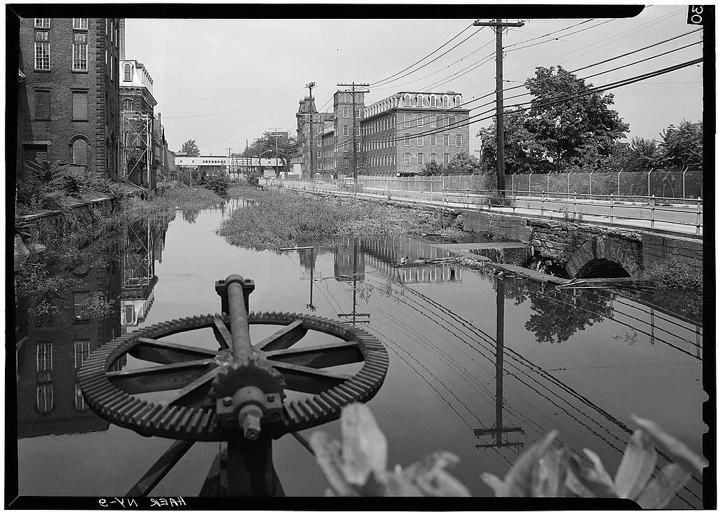 Cohoes view north along power canal 1969