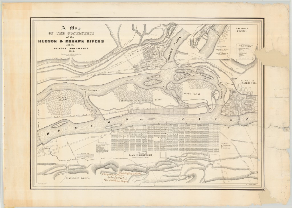 Hudson and Mohawk River Confluence 1843