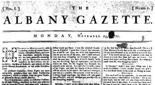 Albany Gazette, 1771