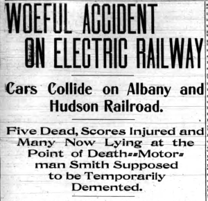 Woeful Accident on Electric Railway