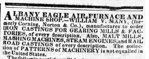 Albany Eagle Air Furnace 1839