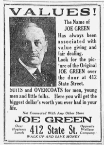 Joe Green's Ad 2