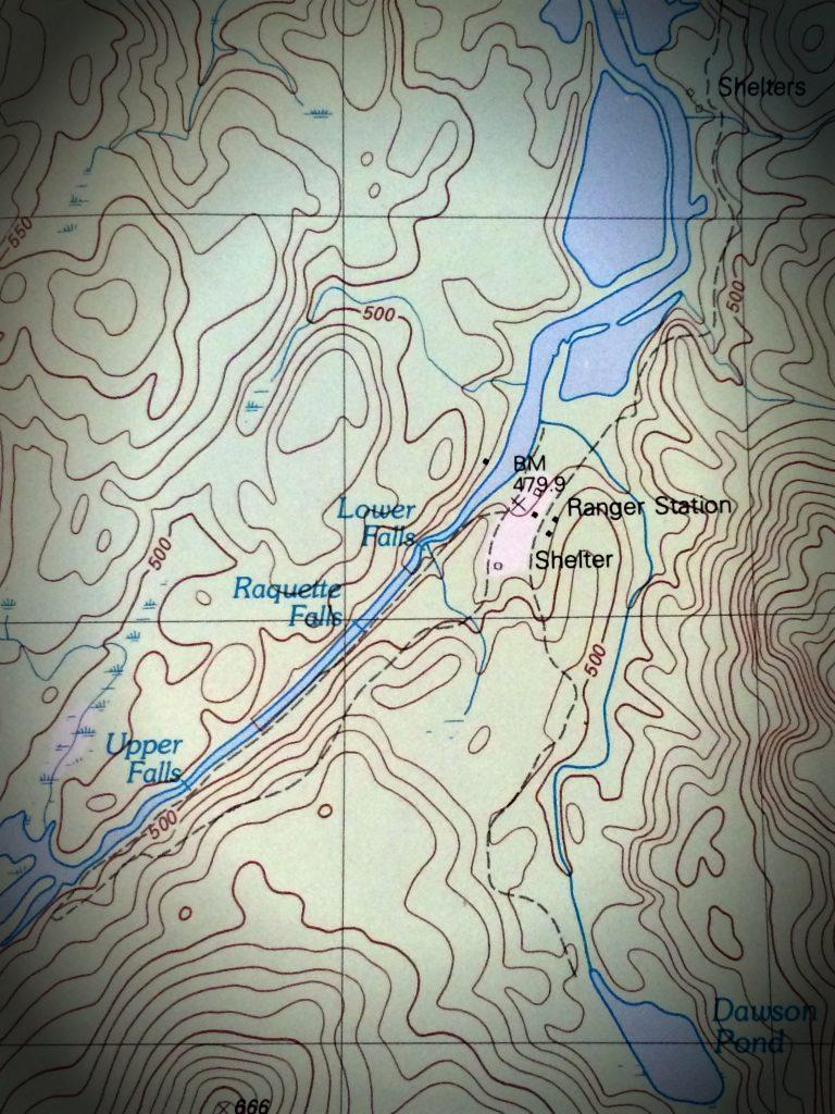 Raquette Falls Trail