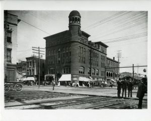 The Edison Hotel, State and Wall Streets. From the Schenectady County Historical Society.