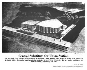 Colonie Station proposal 1967