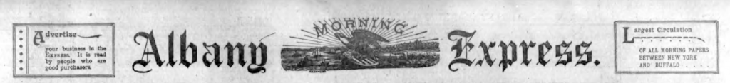 Albany Morning Express Flag 1897