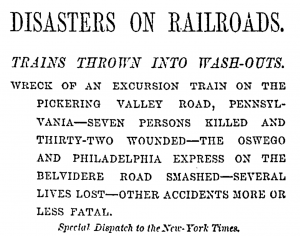 Disasters on Railroads