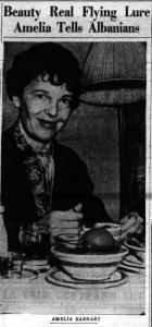 Earhart in Albany