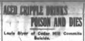 Aged Cripple Drinks Poison