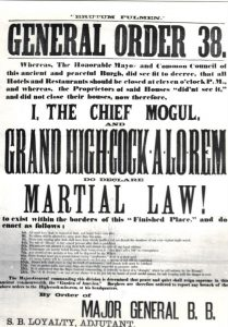 Satirical declaration of martial law in Lansingburgh