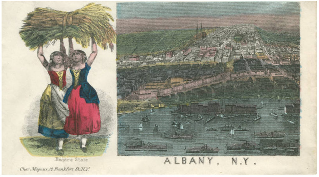 Albany With Two Women Holding Grain