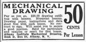 Albany Institue Mechanical Drawing Boys' Life 1916