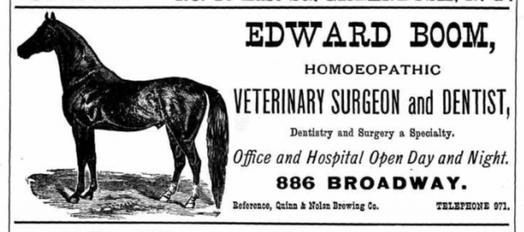 Edward Boom, Homeopathic Veterinary Surgeon
