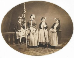Group at the Sanitary Commission Fair, Albany, New York 1864