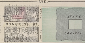 1876 Detail showing Avenue House and rest of West Capitol Park area