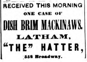 "Latham ""The"" Hatter 1876"