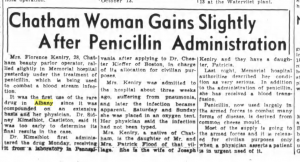 Oct. 6 1943 first use of penicillin