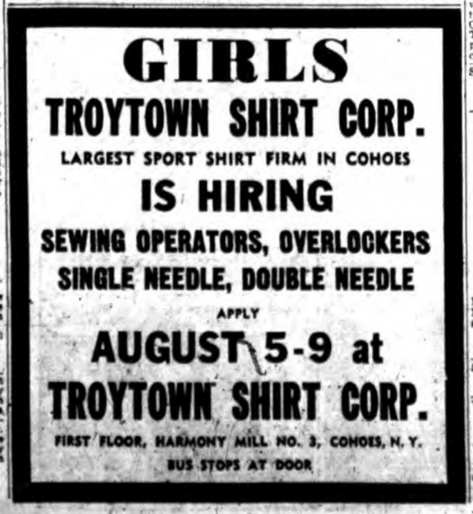 Troytown Shirt Corp 1957