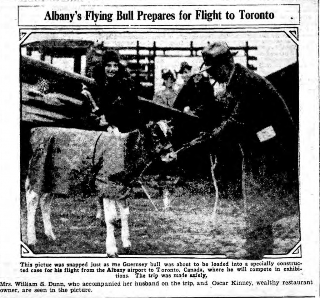 Albany's Flying Bull Prepares for Flight to Toronto Schoharie Republican 12-5-29