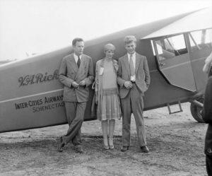 Victor Rickard with Amelia Earhart