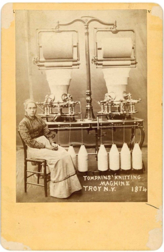 Tompkins Knitting Machine Troy 1874