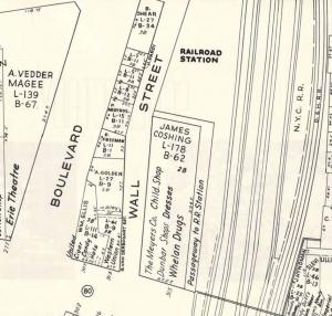 Edison Building on map 1950