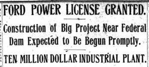 Ford Power License Granted Troy Times 2-28-1921