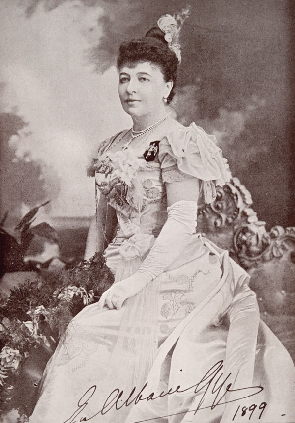 Emma Albani 1899 By Talma and Company, Melbourne, Australia (Active: ca. 1899 - ca. 1912) - http://www.collectionscanada.ca/gramophone/m2-150-e.php?uid=m2-nlc006435&uidc=recKey Library and Archives Canada/Emma Albani fonds/MUS 10 [1970-2, IV,21] No. L3461 ; also published in The Musical Times (1899) New York and London, Public Domain, https://commons.wikimedia.org/w/index.php?curid=2638029