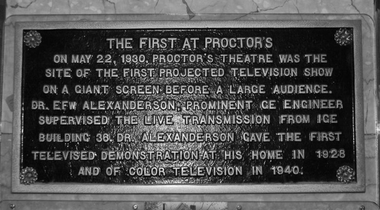Proctor's demonstration of television plaque