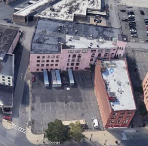 Dayton Ball Aerial showing wedge