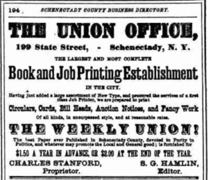 Advertisement for Stanford's Daily Union newspaper
