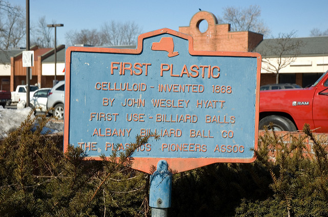 First Plastic Historical Marker Delaware Ave Albany