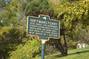 Hoffmans Ferry Historical Marker