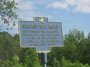 Sacandaga Road marker
