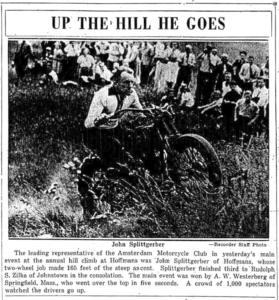 John Splittgerber hill climb photo