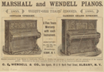 Marshall and Wendell Pianos 1886 ad
