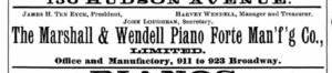 Marshall and Wendell directory 1890 ad