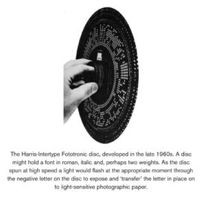 Harris-Intertype Fototronic Disc