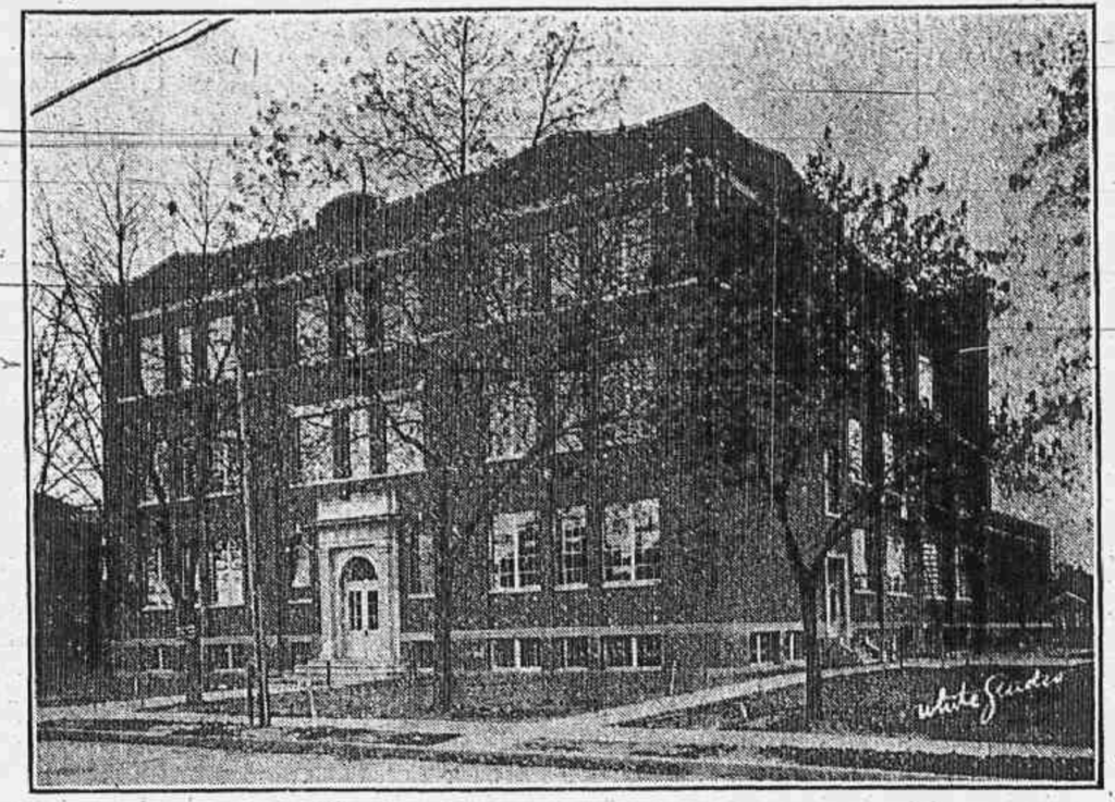 Scotia Junior High School Building on First Street in 1928.