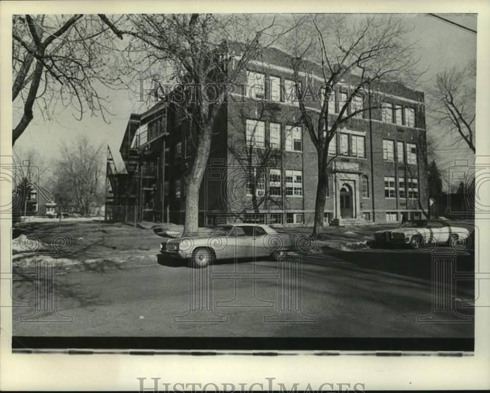 Undated photo of the Scotia Seventh Grade building near the end of its life.