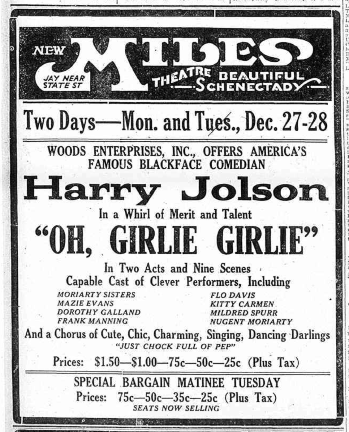 Miles-Theater-Ad-for-Oh-Girlie-Girlie