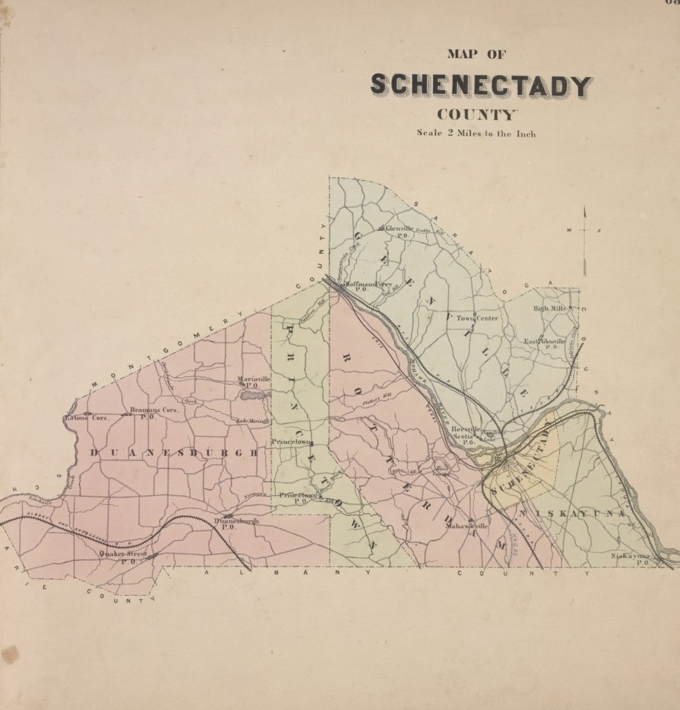 Schenectady County Beers Map 1876