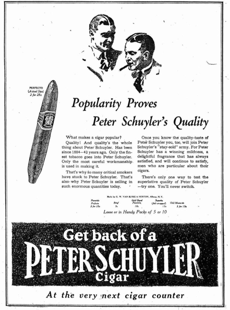1926 Peter Schuyler ad