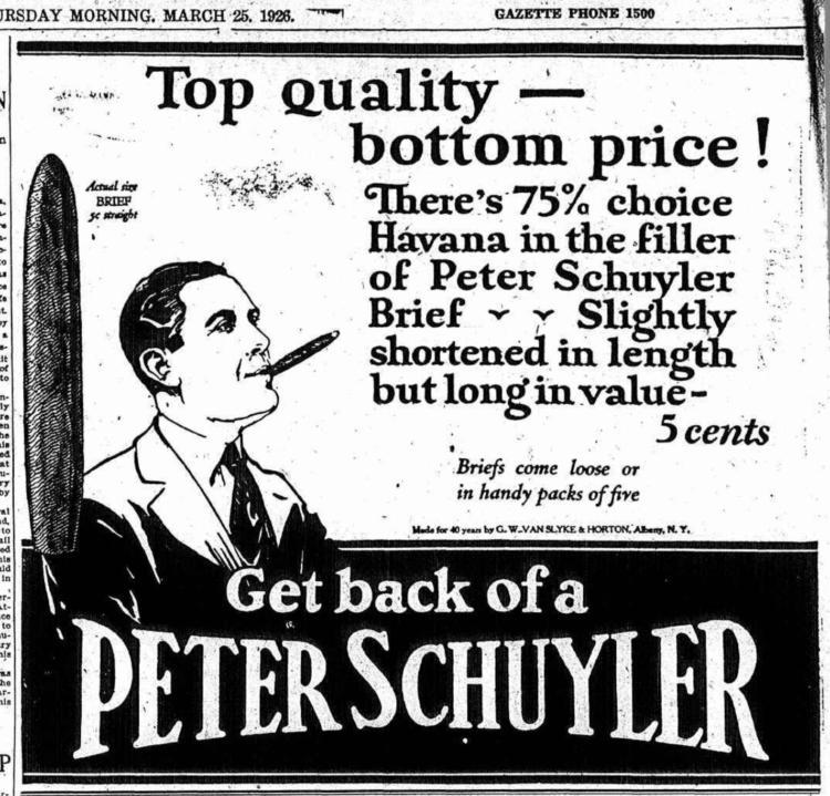 Peter Schuyler ad 1926